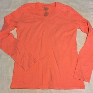 Old navy girls bright orange long sleeve shirt